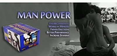MAN POWER ACTION - Sex Enhancement  1 Box - 12 Pack Per Box - 10 Strips Per Pack