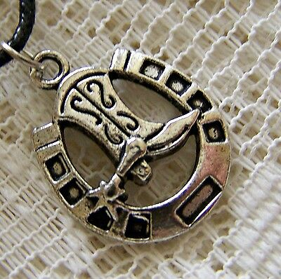 Lucky_Horseshoe ~ With ~ Cowboy_Boot ~ Necklace  -- (Great_ Gift)