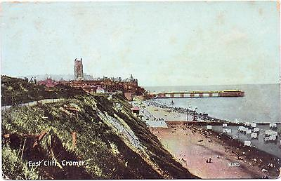 Vintage Postcard EAST CLIFF CROMER -Norfolk -  Shurey's