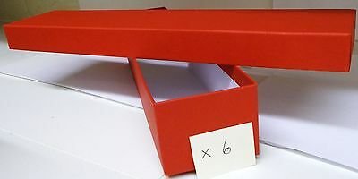 Loco/Locomotive Storage Boxes - Large (Red) with Lids x 6. New.