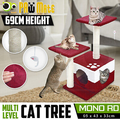 Cat Tree Scratching Post Scratcher Pole Gym House Furniture Multi Level 69cm RD