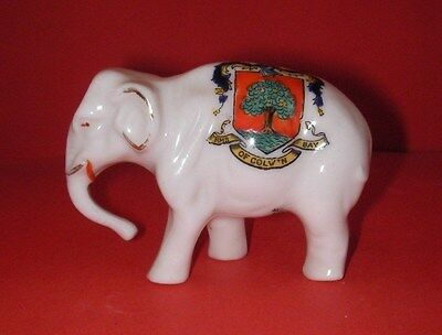 Willow Art Crested China  Elephant   Colwyn Bay Crest