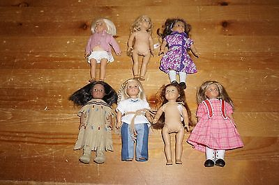 American Girl Mini Doll Lot Dolls Kit Ruthie Kaya Julie Read Auction B4 Buying!