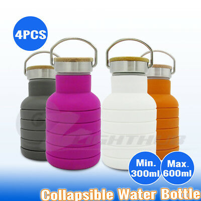 2x 2L Double Wall Outdoor Water Bottle Camping Travel Office Coffee Kettle Cup