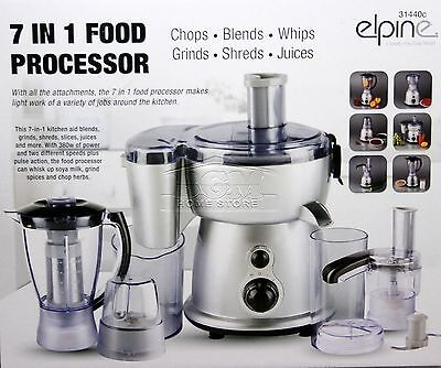 7 in 1 380W Electric Multi Food Processor Blender With Chopper Jar Smoothie 440C