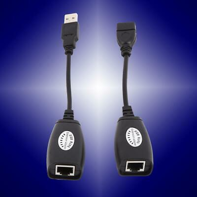 USB 2.0 Male Female to CAT5 CAT6 RJ45 Lan Extension Cable Adapter High-Speed CT