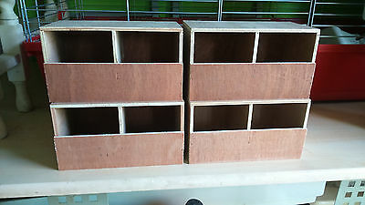 4 X Finch double nest boxes,bengalese,zebra,foreign bird Free p&p