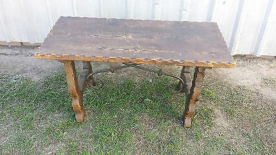Old Wooden Coffee Table No 3129 Spain