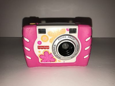 Fisher Price Kids Tough DIgital Camera ~ 4x Zoom ~ Pink, Nice Condition