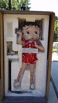 NEW half a box Limited Edition Coca-Cola Betty Boop Waitress Porcelain Doll Coke
