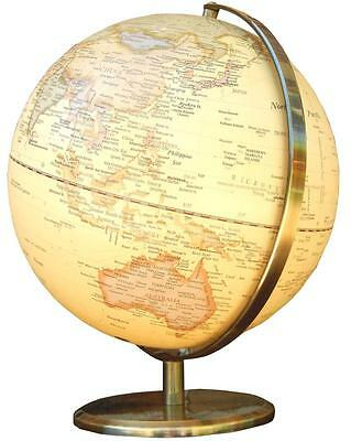 World Reference Globe Raised Relief Embossed Land Wedding Vintage Gift 30 x42 cm