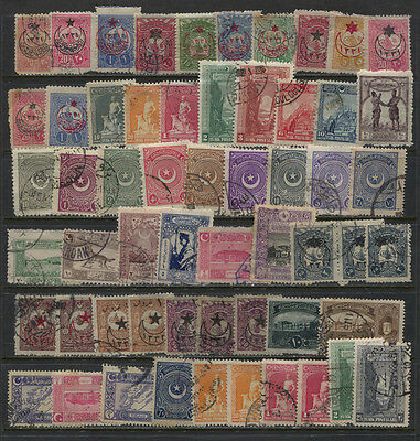 Turkey Mint / Used Mostly Early Accumulation 2 Pages Incl J43 x 9 MNH