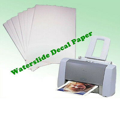 10PCS A4 Waterslide Transfer/Decal Paper Inkjet Printer for Candle, Soap, Wood
