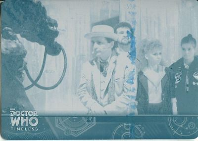Doctor Who Timeless Cyan Printing Plate Base Card #33
