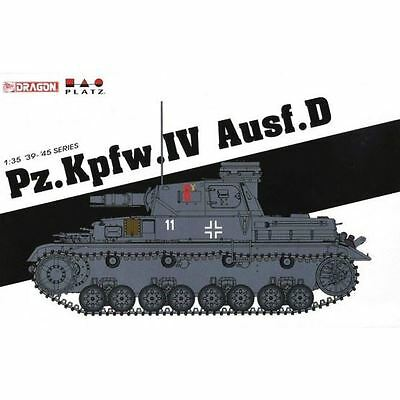 Dragon Plastic Model Kit - Pz.Kpfw.IV Ausf.D Tank - 1:35 Scale - 6872 - New