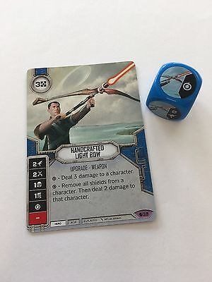 Star Wars Destiny - 39 Handcrafted Light Bow - Spirit of Rebellion - Dice & Card