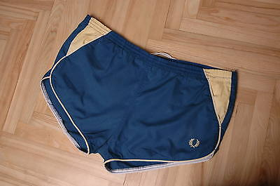 Vintage Fred Perry cotton blue  shorts size M  32 in