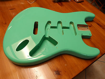 Vintage 1962 Fender Stratocaster Sea Foam Guitar Body USA