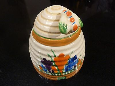 Clarice Cliff Original Hand Painted Honey Pot Excellent Condition