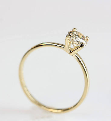 1.50CT Round-Cut Delicated Diamond Solitare Engagement Ring 14k Yellow Gold