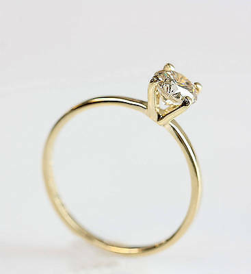 1.50CT Round-Cut Delicated Diamond Solitare Engagement Ring 14k Yellow Gold Over