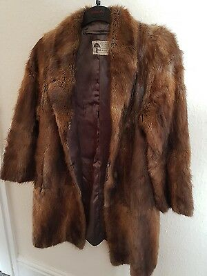 Vintage Ross Furriers Real mink 3/4 Ladies Coat