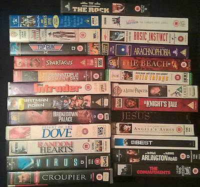 Joblot Of 50 Vhs Videos Collection Only Ideal For Car Boot Or Collector