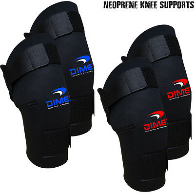 Neoprene Black Knee Supports Brace Stabilizer Guard Sports Wraps - PAIR