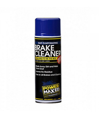 Power Maxed Brake Cleaner Dust Clutch Parts Removes Oil Brake Fluid Grease 500ml
