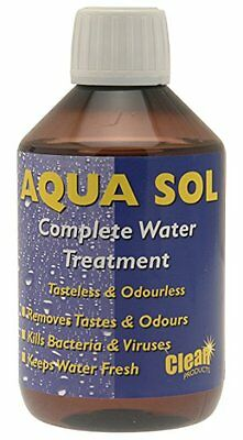 Clean Tabs Aqua Sol Water Purification Treatment Caravan Motorhome Boat 300ml