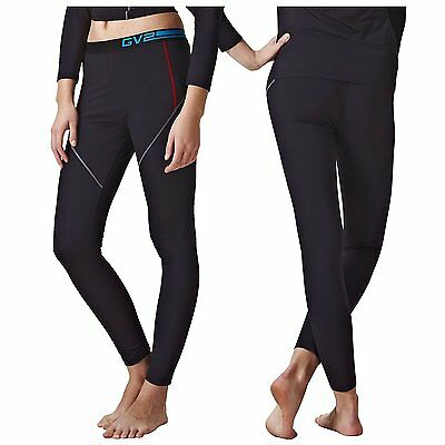 GV2 Womens Aero Warm Stretch Comfort Cold Weather Pants Bottom Leggings Black M