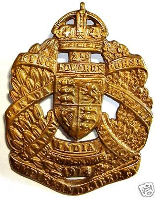 Ww1 The 2Nd King Edwards Horse Cap Badge Brass Metal