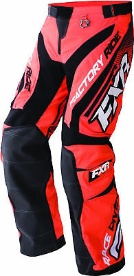FXR Mens Orange/Black/White Cold Cross Race Ready Uninsulated Snowmobile Pants