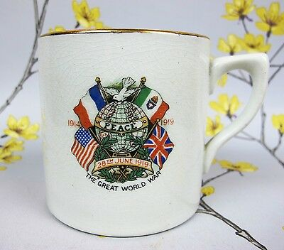 Vintage PEACE 28th June 1919 The End of First Great World War 1914-1919  H&K MUG