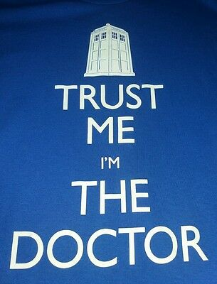 Dr Who - Trust Me I'm The Doctor Blue Cotton T-Shirt - Official BBC