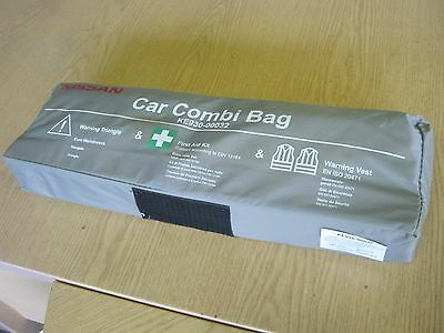 Nissan Qashqai FIRST AID KIT WARNING TRIANGLE AND VEST EXPIRES 2020 GENUINE