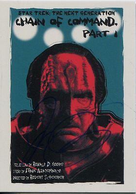 Star Trek TNG Portfolio Prints Series 2 Ortiz Signed Base Card #140 Face of the
