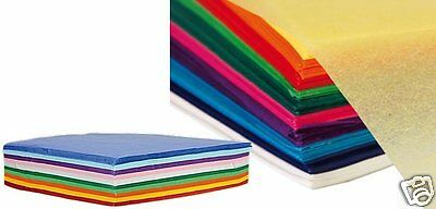 Quality Tissue Paper Assorted Colour Craft Gift 16x16cm 18gsm 500 Sheets J3TW