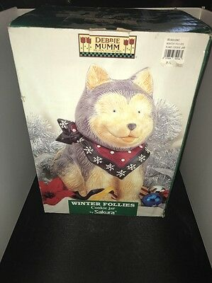 "Very Nice Sakura Debbie Mumm Husky Cookie Jar 1998 12"" Tall"