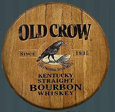 Old Crow Kentucky Straight Bourbon Whiskey Licensed Authentic Barrel Head
