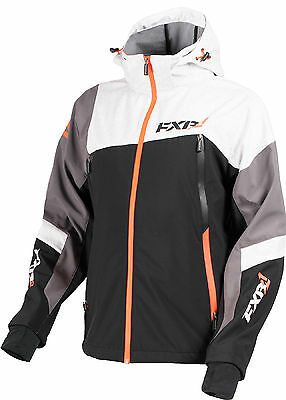 FXR Mens Black/Charcoal/White/Orange Renegade Waterproof Softshell Jacket