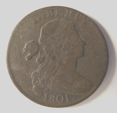 1801 Draped Bust Cent S-223 R-1