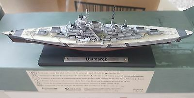 atlas editions BISMARCK ship 1.1250 scale model with literature - Boxed
