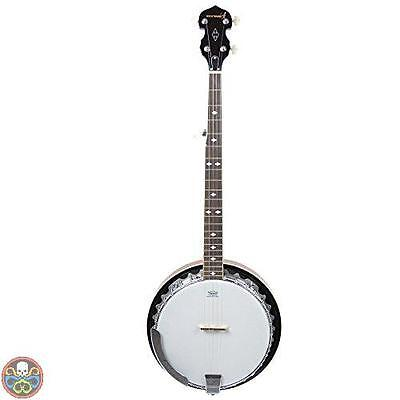 Rocket Tg: Full Size Marrone Bjm01 Banjo A 5 Corde Con Cassa In Metallo Nuovo