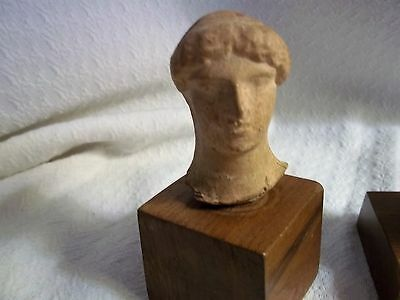 Rare Antique Roman clay Head of Goddess DIANA Statue Hunt / MOON