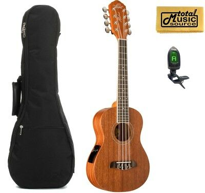 Oscar Schmidt OU28TE Tenor 8 String Electric Ukulele w/Padded Gigbag,Tuner & PC
