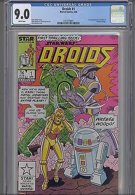 Droids #1  CGC 9.0 1986 Star Comic: Star Wars  NEW Frame