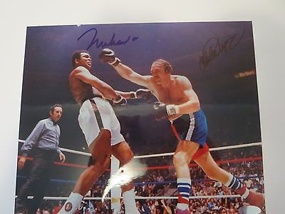 Muhammad Ali Signed 8X10 Photo Steiner Certified, Also Signed By Chuck Wepner