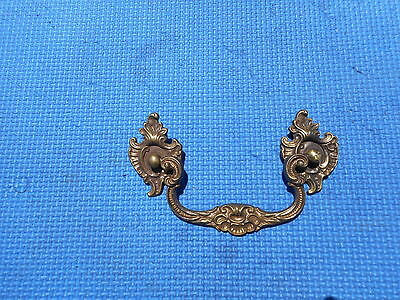 Antique Brass Furniture Drawer Pull Ornate Hardware Shabby Chic Solid Brass