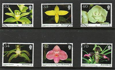 Sg 1143-8 Jersey Orchids Very  Fine Used Set